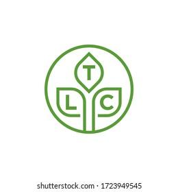 TLC  logo design vektor Landscaping