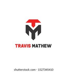 Tm alphabet letter join joined letter logo design vector