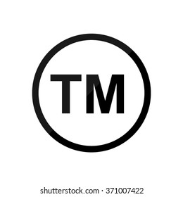 tm -  black vector icon