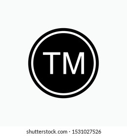 TM Icon : Abbreviation of Trade Mark - Vector, Sign and Symbol for Design, Presentation, Website or Apps Elements.