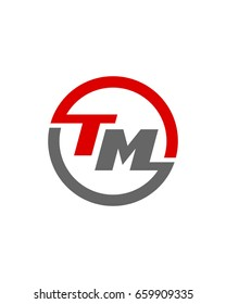 TM initial circle logo template vector