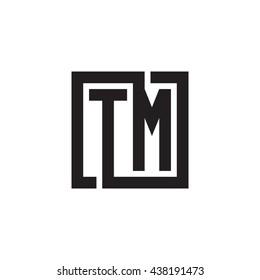 TM initial letters looping linked square monogram logo