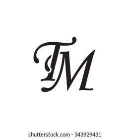 TM initial monogram logo