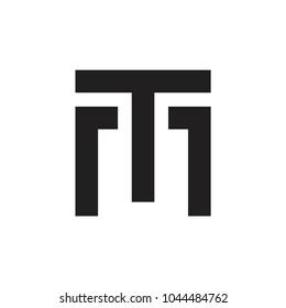 TM letter logo design vector