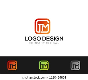 TM Letter Logo Template Vector Illustration