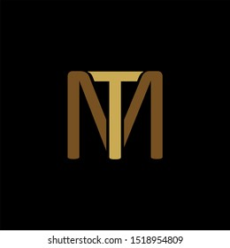 TM Letter monogram with abstrac concept style design