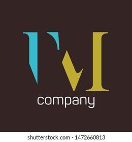 TM logo design. Company logo. Monogram. Letters T and M.
