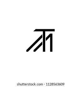tm logo letter vector
