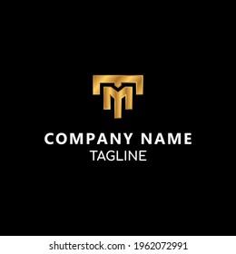 TM monogram initial letters vector logo template