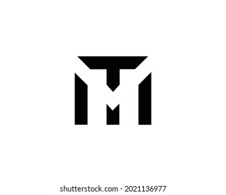 TM And MT Letter Logo And Icon Design Vector Template.