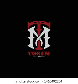 TM or MT template logo monogram athlete