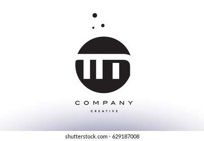 TM T M alphabet company letter logo design vector icon template simple black white circle dot dots creative abstract