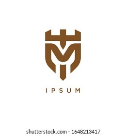 TM T M MT logo letter logotype icon font monogram