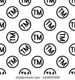 TM Trademark Symbol Icon Seamless Pattern, Tm Symbol, Unregistered Trademark Symbol Icon Vector Art Illustration