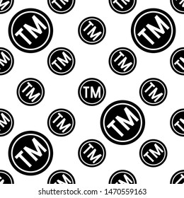 TM Trademark Symbol Icon Seamless Pattern, Tm Symbol, Unregistered Trademark Symbol Icon Vector Art Illustration
