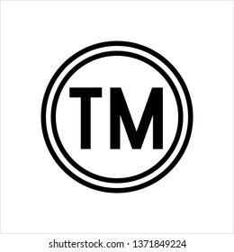 TM Trademark Symbol Icon, Tm Symbol, Unregistered Trademark Symbol Icon Vector Art Illustration