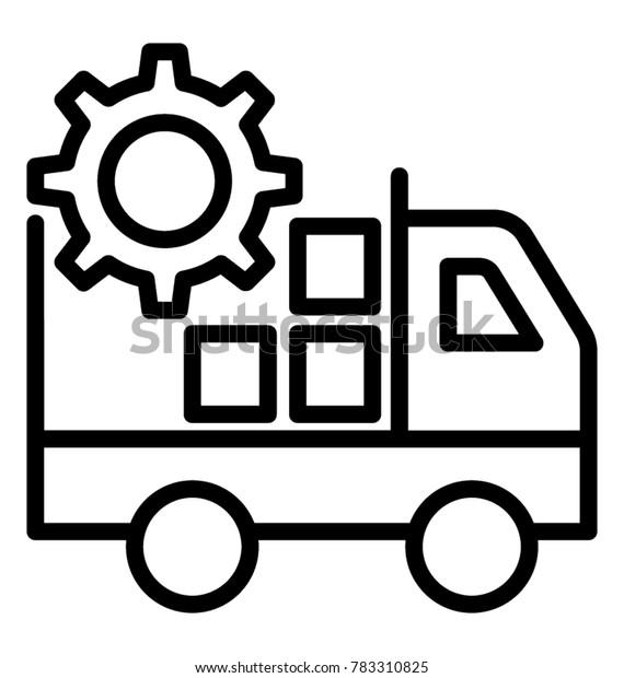 Tms Transportation Management System Line Vector Stock