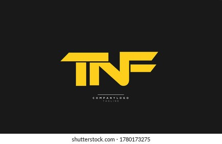 TNF Letter Business Logo Design Icon Alphabet Vector Template