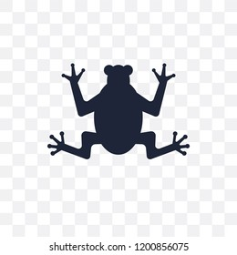 toad transparent icon. toad symbol design from Fairy tale collection. Simple element vector illustration on transparent background.