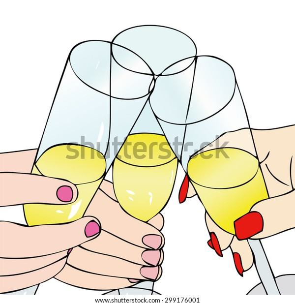 Toast Celebrate Illustration Representative People Who Stock Vector Royalty Free 299176001