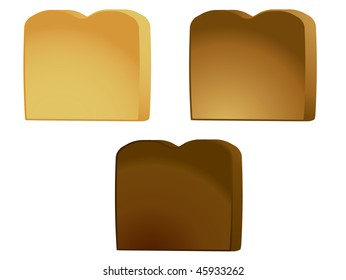 Toast isolated - vector version