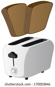 Toaster -  Vector Artwork (isolated on white background).
