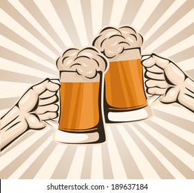 Toasting with beer