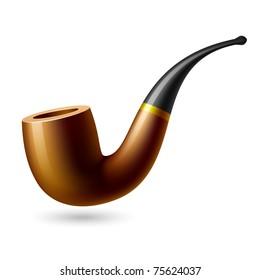 Tobacco pipe. Vector.