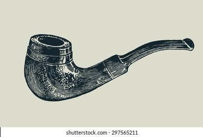 tobacco-pipe. vector illustration.