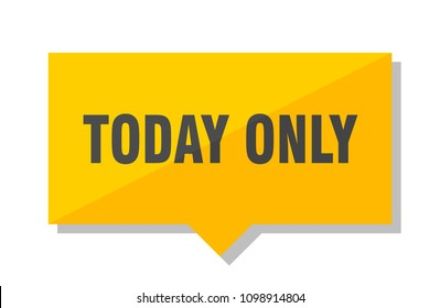 today only yellow square price tag