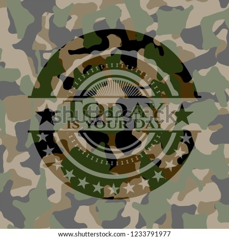 d146aedbd3c5 Today Your Day Written On Camo Stock Vector (Royalty Free ...