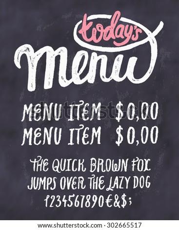 todays menu chalkboard menu template stock vector royalty free