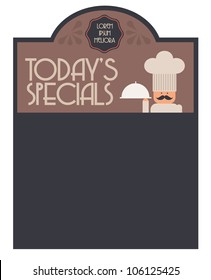 today's special board vector/illustration