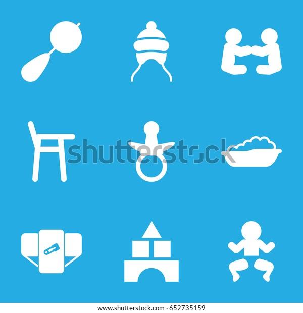 Pleasant Toddler Icons Set Set 9 Toddler Stock Vector Royalty Free Creativecarmelina Interior Chair Design Creativecarmelinacom