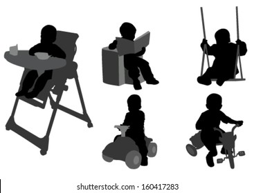 toddlers silhouettes 3