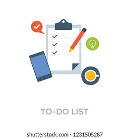 Todo list, checklist illustration