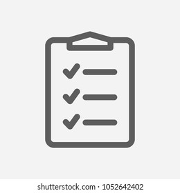 To-do list icon line symbol. Isolated vector illustration of  icon sign concept for your web site mobile app logo UI design.