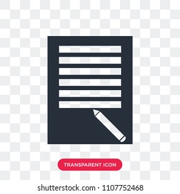 todo list vector icon isolated on transparent background, todo list logo concept