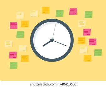 Todo-list in a day concept icon. time management concept. vector illustration.