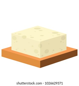 Tofu cartoon vector. free space for text. wallpaper. background.