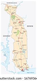 Togo Map Images Stock Photos Vectors Shutterstock