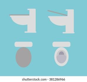 Toilet Bowl Set Vector