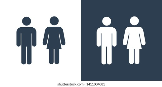 Toilet Crowd Illustration Icon Vector