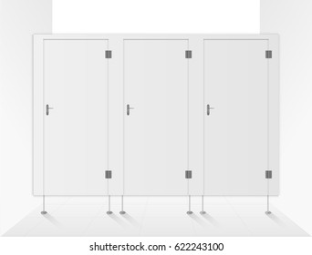 toilet doors white for male and female genders vector.