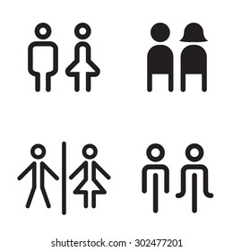 toilet icon great for any use. Vector illustration  symbol set