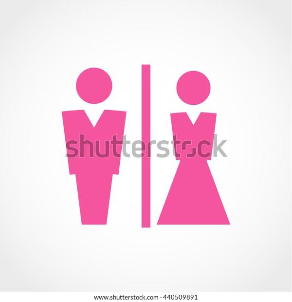 toilet Icon Isolated on White Background