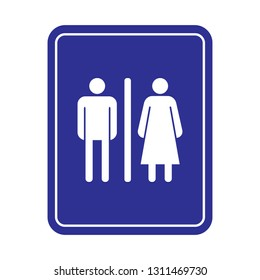 Toilet Icon. Lavatory  Flat & Trendy Logo Template. Restroom As A Simple Illustration  Vector Sign & Trendy Symbol for Design and Public Service Website, Presentation or Mobile Application.