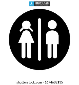 toilet icon or logo isolated sign symbol vector illustration - high quality black style vector icons
