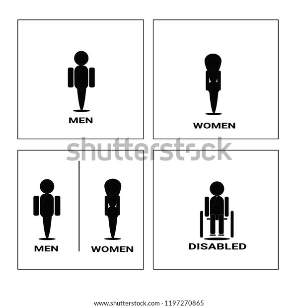photograph about Women's Restroom Sign Printable named Rest room Icon Mounted Fresh Designvector Case in point Inventory Vector