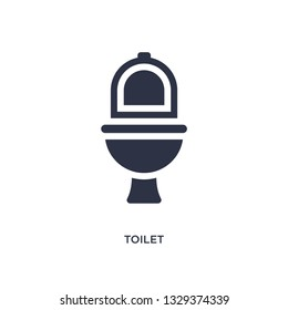 toilet icon. Simple element illustration from camping concept. toilet editable symbol design on white background. Can be use for web and mobile.